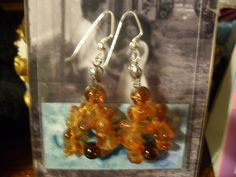 "Earrings: ""Rocky Mountain Caramel"""