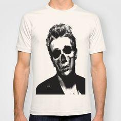 JAMES DEAN BW SKULL PORTRAIT T-shirt