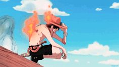 one piece gif Ace One Piece, One Piece Gif, One Piece Crew, One Piece World, One Piece Anime, Bd Comics, Anime Comics, Akuma No Mi, Film Manga