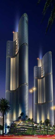 Al Mada Towers, Jeddah, Saudi Arabia by Saudi Diyar Consultants :: 76 floors, height 358m :: vision
