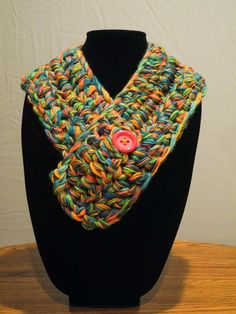 Handmade Crocheted Neckwarmer - Unicorn Poop - Pastel/Rainbow/Colorful Scarf by artsylikewhoa  on Etsy SOLD. Happy to make another. Visit my Etsy store to place a custom order.
