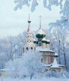 Winter in Yaroslavl, Russia - Incredible beauty. Winter Szenen, Winter Magic, Russian Architecture, Beautiful Architecture, Ukraine, Russian Winter, Russian Orthodox, Winter's Tale, Place Of Worship