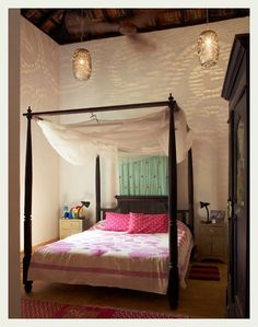 Bedroom. High lamps, magical flickers.    An Indian Summer: Aao Goa Chalen*