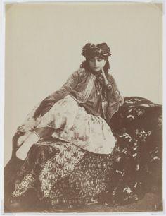badesaba:    Qajar Era Reclining Woman with a Turban  Antoin Sevruguin