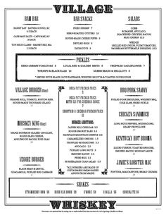 #Burgers #WhiskeyVillage #Menu #GourmetBurgers #FancyBurgers