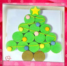Loving Creations for You: 'Christmas Tree' Pull apart Pandan Chiffon Cupcake...