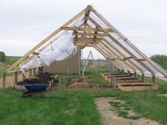 My Giant $160 A-Frame Greenhouse   Alberta Home Gardening