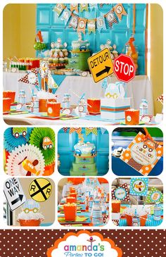Transportation - Cars, Trains, Planes Party Printables - Huge Party Set by Amanda's Parties