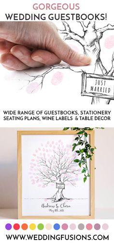 A wedding fingerprint tree - a gorgeous wedding keepsake! - Home Decor - Home Style And