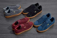 Puma Suede Black Gum Edition .