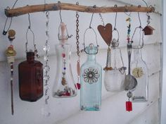 little bottles and and things wind chimes