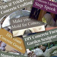 Large Holey Concrete Voronoi Orb - Made By Barb - easy garden sphere Concrete Molds, Concrete Crafts, Concrete Projects, Concrete Garden, Glass Garden, Concrete Light, Concrete Leaves, Garden Spheres, Weird Shapes