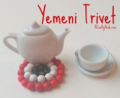 A Crafty Arab:  Yemeni Flag Trivet Tutorial. When we try to think of new crafts to make here on A Crafty Arab blog, it's always fun to think of ways we canreproduce the differentArab flags. Today we thought we'd create the Yemen flag trivet. For those that don't know, a trivet is an object placed between a hot bowl or tea kettle,and …