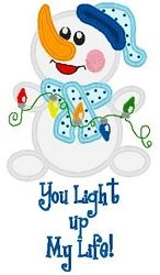 Light Up My Life Applique - 3 Sizes!   Winter   Machine Embroidery Designs   SWAKembroidery.com Band to Bow