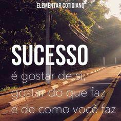 Sucesso não tem nada a ver com a opinião dos outros  #elementarcotidiano #frasedodia #sucesso