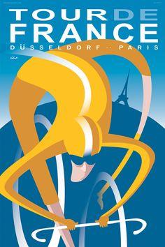 Tour de France 2017 | Cycling Art Print | Michael Valenti