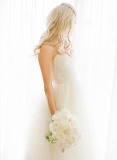 Wedding Gown by Reem Acra | Photography: KT Merry Photography | See the wedding on SMP: http://www.StyleMePretty.com/2014/03/13/glamorous-ballroom-wedding-in-naples-florida/
