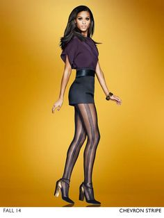 Fashion Images, Fashion Photo, Hanes Hosiery, Women's Shapewear, Fall Winter 2014, Leather Skirt, Fashion Accessories, Tights, Skirts