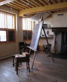 Rembrandt's Art Studio lighting – Look at the low blackout windows and the canvas hood that prevents the light bouncing on the ceiling