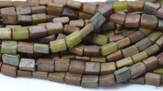 100 Picasso Czech Pillow Glass Beads 5x3mm by BeadstoBlooms, $5.00