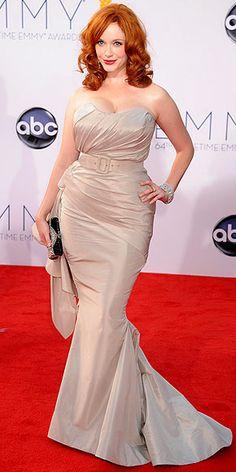 Christina Hendricks in Christian Siriano. ♥ #MadMen