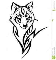 Wolf tattoo stock vector. Image of animal, authority - 27886494