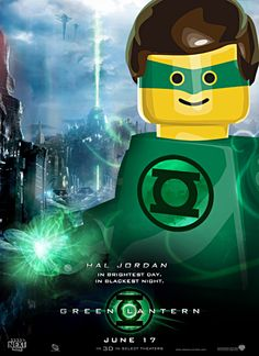 Jackson would like this - Green Lantern lego poster