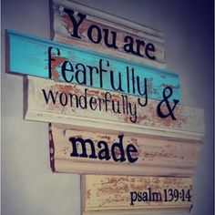 Great verse for in the ladies bathroom, maybe a little prettier? painted on the wall, maybe?