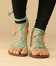 Turquoise Sandals-Love Love Love