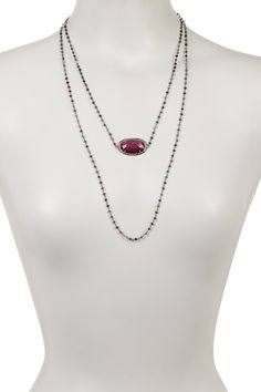 Natural Sapphire Strawberry Endless Necklace on @HauteLook