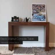 Black Walnut Console Table. Modern look with timeless class.