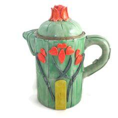 Art Nouveau style teapot handmade polymer clay over by HiGirls, $100.00