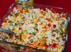 Ensalada de arroz al estilo Paraguay Paraguayan Recipe, Fodmap Recipes, Healthy Recipes, Paraguay Food, Rice Salad, American Food, Spanish Food, Yummy Food, Diet