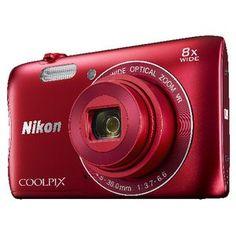"""Nikon S3700 20.1 Megapixel 2.7"""" Camera Red"""