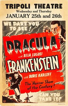 Dracula and Frankenstein poster