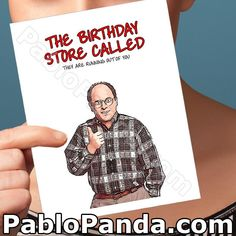 The Birthday Store Called They Are Running Out Of You – Social Shambles Funny Greetings, Funny Greeting Cards, Funny Cards, Miss You Cards, Love Cards, Valentines For Kids, Funny Valentine, Valentine Cards, George Costanza