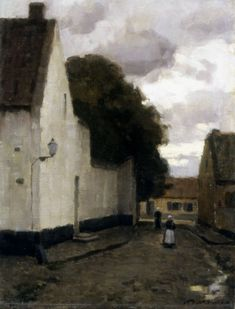 Helen McNicoll, Village Street, 1904, oil on canvas, 45.8 x 36 cm, private collection. #ArtCanInstitute #CanadianArt
