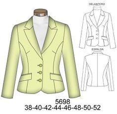 Blazer Pattern, Jacket Pattern, Suit Drawing, Coats For Women, Jackets For Women, Dressy Jackets, Work Fashion, Fashion Design, Silk Jacket