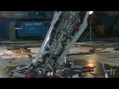 Giant Star Wars LEGO Super Star Destroyer Shattered at 1000 fps | Battle...