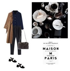 """""""Untitled #1952"""" by yenybarriot ❤ liked on Polyvore featuring River Island, Yves Saint Laurent and bhalo"""