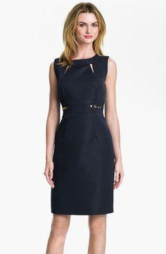 91513fa5d493 Tahari Cutout Detail Jacquard Sheath Dress available at #Nordstrom Elie  Tahari Dresses, Nordstrom Dresses