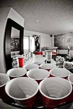 beer pong! awesome view.
