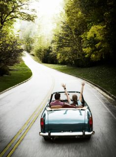 I love that we both dream of a cross-country road trip in a vintage convertible