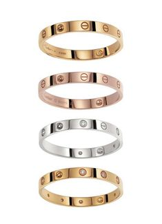 "OBSESSED: Cartier Love Bracelet. ""The Love bracelet is designed to be opened only using a special screwdriver that is supplied with every bracelet as a symbol for their commitment to their relationship."" <3"