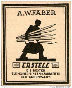 Original-Werbung/Inserat/ Anzeige 1925 - FABER-CASTELL - ca. 70 X 90 mm
