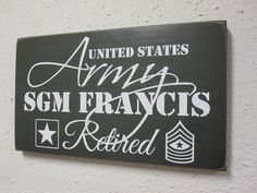Army Retirement Sign Military Retirement Armed by BornOnBonn