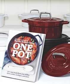Martha's One Pot cookbook and enameled cast iron cookware are the perfect combination for hearty fall meals – and clean-up is a breeze!