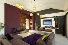 Salon deco blanc chocolat prune et violet www.archi-cochez.com ...