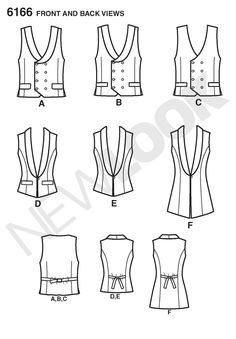 "6166 Misses' and Men's Vest  For the life of me, I cannot tell the difference between vests A and B beyond the fact they are demarcated at A and B rather than ""two images of the same vest."""