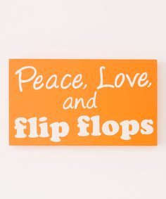 Look at this Orange 'Flip Flops' Box Sign on #zulily today!